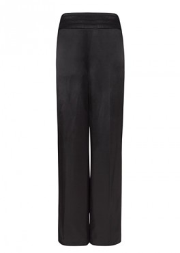 Pantaln palazzo satn, 49,99 euros.